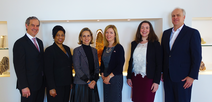 Left to Right:  Joe Amador (TPH), Regina Johnson (UK Vice Consul, US Energy Sector Lead), Alie Pruner (TPH), HM Consul General Karen Bell, Cynthia Conner (Energy Policy Attaché) and Mark Meyer (TPH)