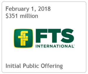 TPH Serves as Co-Manager on FTS International, Inc 's IPO